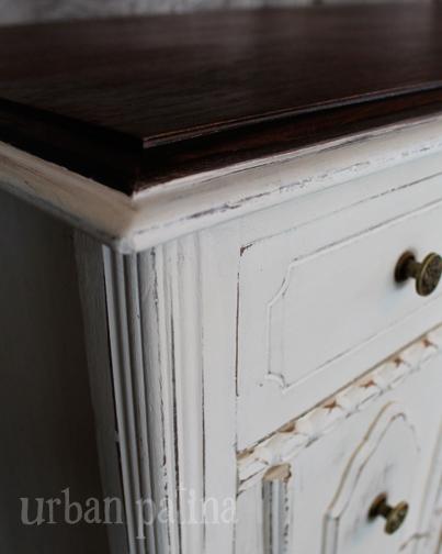 antique desk makeover, chalk paint, painted furniture