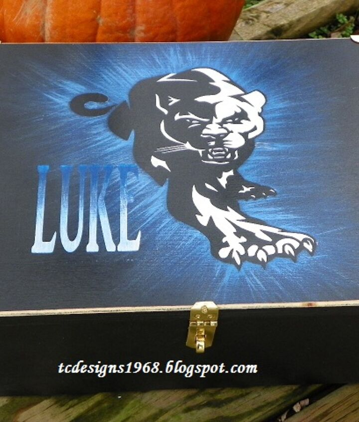 Luke's treasure Box for his Birthday on the 19th of December