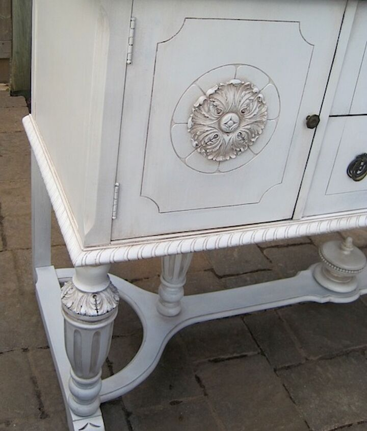 q antique sideboard before and after what would you choose, painted furniture