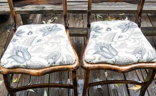 repurposing wood accent chairs, painted furniture, repurposing upcycling