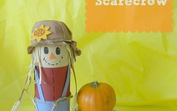 pringles can scarecrow, crafts, This sweet Scarecrow helps dress up my kitchen for fall