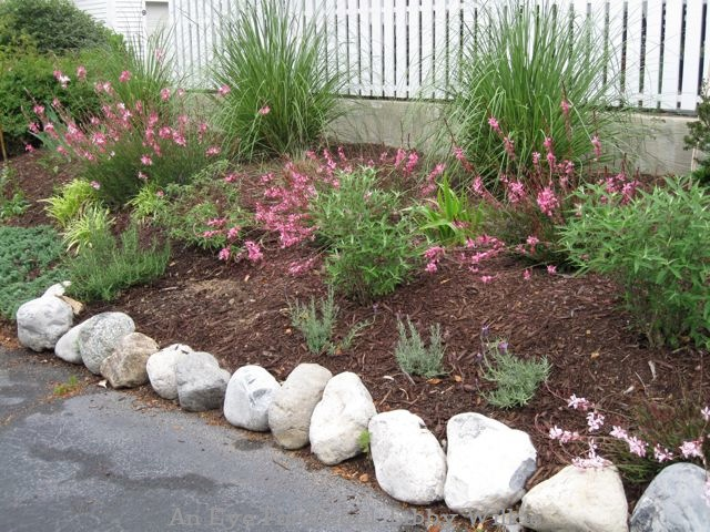 Adding Large Rocks To Edge The Garden Area Landscape Outdoor Living