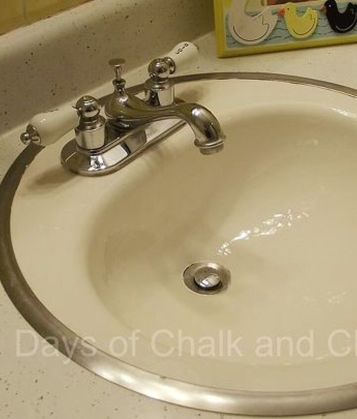 DIY Reglazed sink