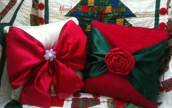 easy no sew christmas pillows, christmas decorations, crafts, seasonal holiday decor