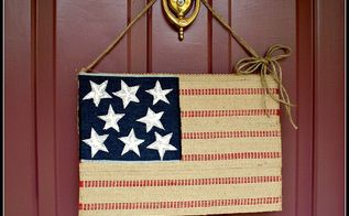 want a quick patriotic decoration for your door for the 4th, crafts, patriotic decor ideas, seasonal holiday decor, Hang your flag with a piece of jute