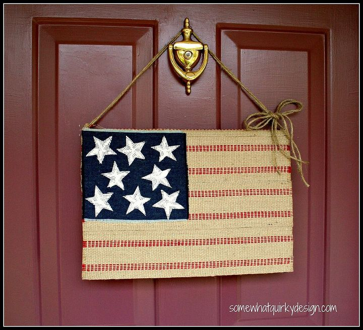 Hang your flag with a piece of jute.