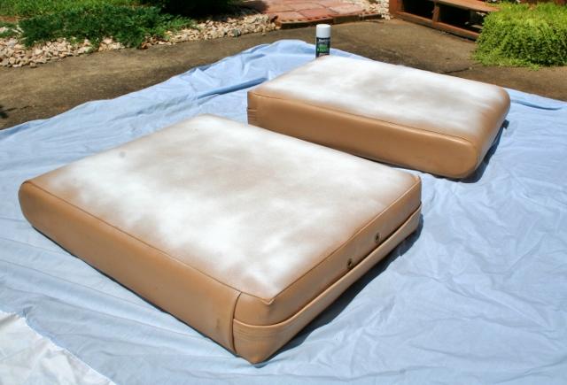 Spray Painting Vinyl Cushions Hometalk