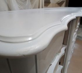 Refinished French Provincial High Gloss Furniture Automotive Paint, Chalk  Paint, Painted Furniture, Prime