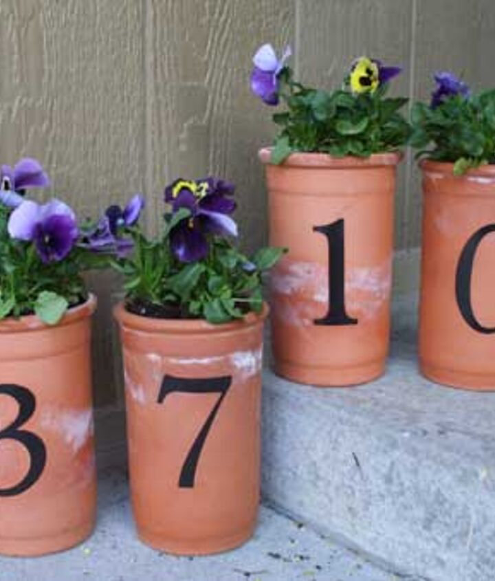 Planted pots are a great way to welcome guests.