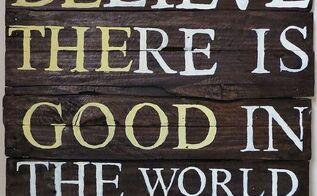 making a pallet wood sign, pallet