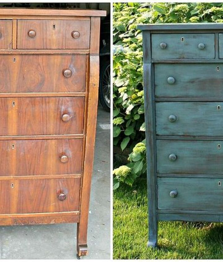 empire dresser makeover using miss mustard seed milk paint, painted furniture