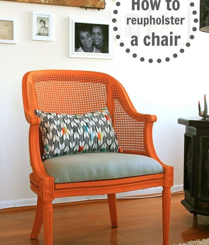 how to reupholster a chair, painted furniture, reupholster