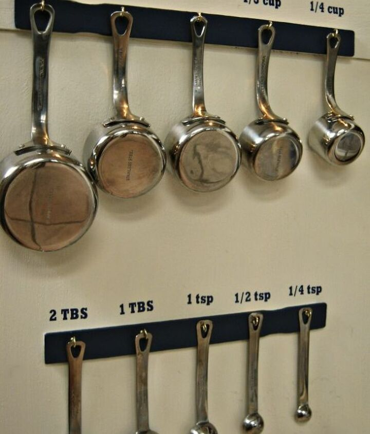 measuring cup and spoon organization, crafts, kitchen design, organizing