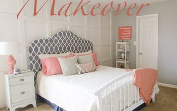 coral gray bedroom makeover room reveal, bedroom ideas, home decor