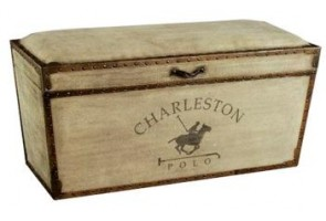 charleston canvas and leather bench, products