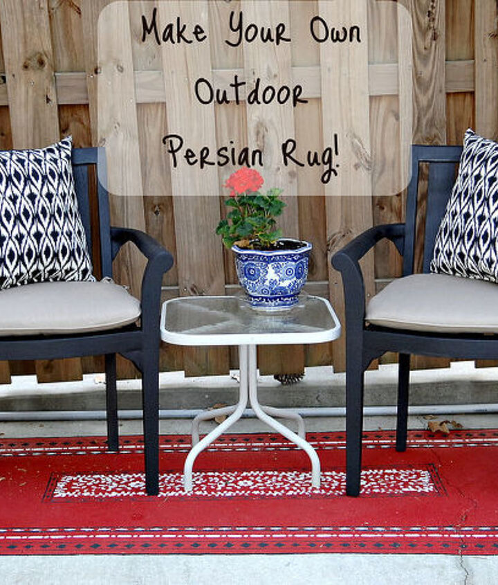I love this one as much as my blue and white oudoor Oriental rug. What a fun transformation!