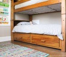 simple shared kids room, bedroom ideas, home decor, painted furniture, storage ideas