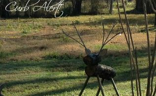outdoor wood deer, gardening, Cute little wood deer