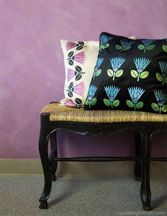 African Protea Flower Furniture Stencil http://www.royaldesignstudio.com/products/african-protea-flower-furniture-stencil