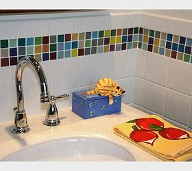 Tiling Cheat Amazing Tiling Effects Using Self Adhesive Wall Tiles, Kitchen  Backsplash, Kitchen Design Part 37