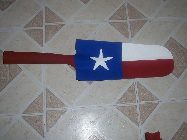 Texas flag long face shovel