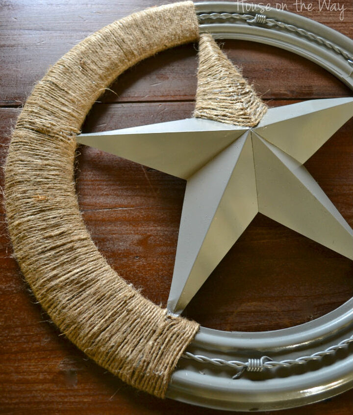 twine covered star wall art, crafts