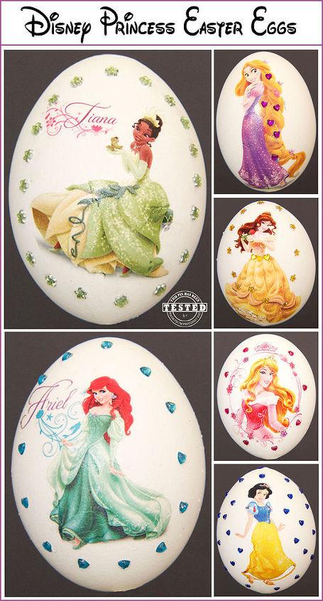 diy disney princess easter eggs, crafts, easter decorations, seasonal holiday decor