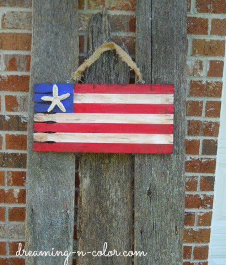 build flag to hang at your house for Patriotic holidays or anytime.