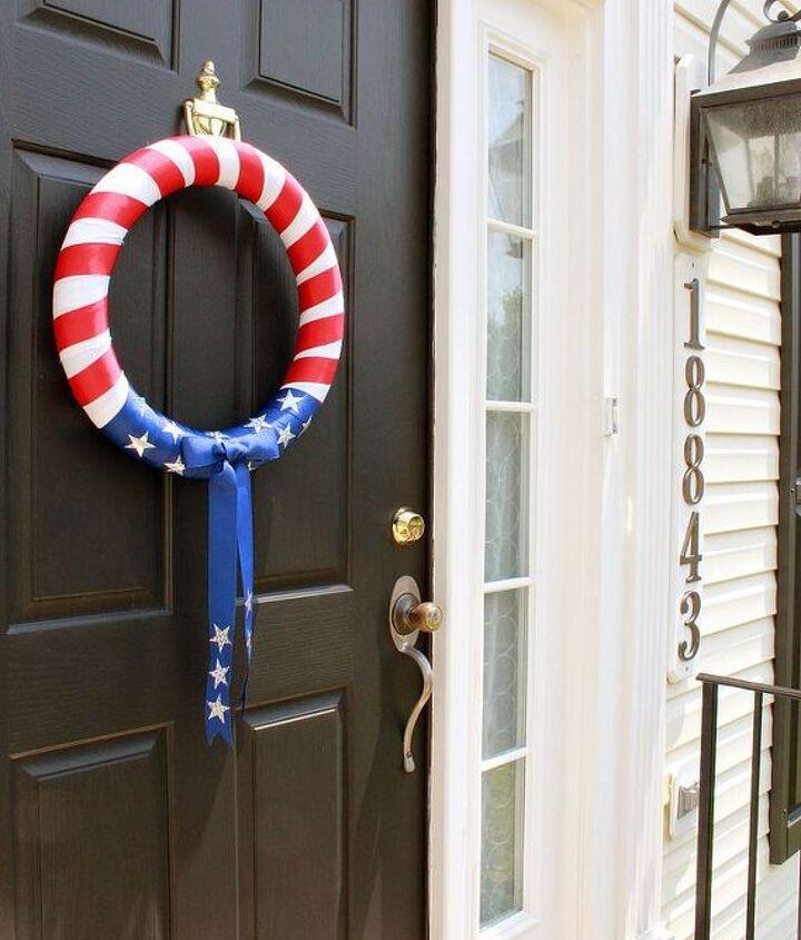 fourth of july wreath, crafts, seasonal holiday decor, wreaths