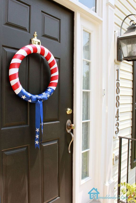 fourth of july wreath, crafts, seasonal holiday decor, wreaths