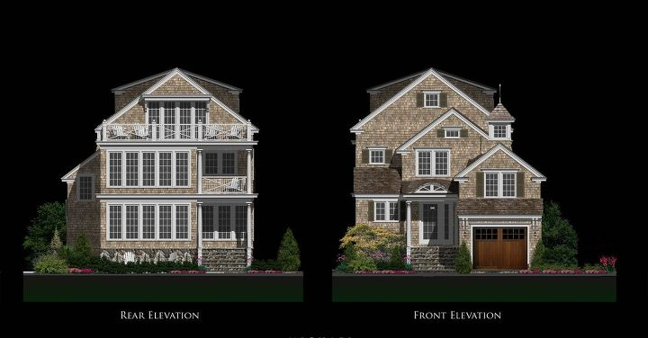 Architectural Elevation Drawings - Home features the latest innovations in home technology allow the homeowners to control every function in their house with their mobile devices.