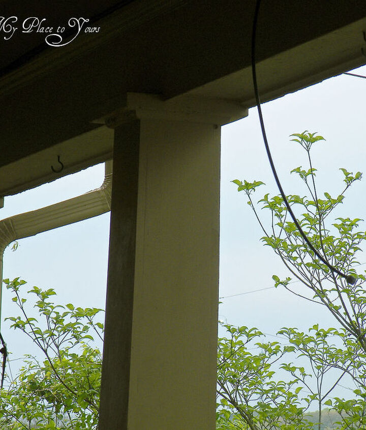 how to have hanging ferns that are the envy of the neighborhood, flowers, gardening, My BEST secret is to install a Rainbird slow drip automatic watering system It s a DIY project Really See the black tubes hanging down from the porch ceiling When the ferns are hung the tubes are placed above them