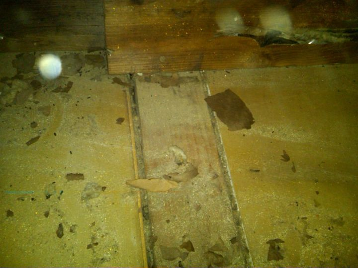 This is what is found when insulation is removed. We use foam to air seal all of these gaps, including any wire openings, pipe vents etc.