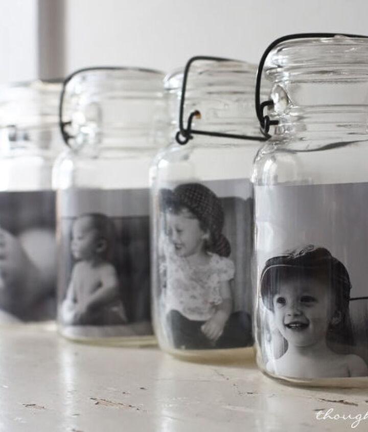 mason jar photo gallery, crafts, home decor, mason jars, repurposing upcycling