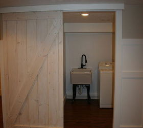Marvelous Barn Door Using A Closet Track, Diy, Doors, Woodworking Projects