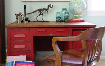 A Teacher's Desk Before and After