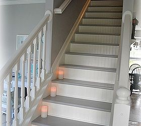 Painted Stairs Part - 33: Stairs Updated With Paint Beadboard, Painting, Stairs, Woodworking  Projects, So Happy With