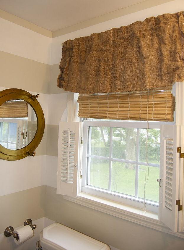 Preppy Striped Bathroom Ideas Home Decor Small Wall