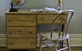 arrow desk makeover, painted furniture