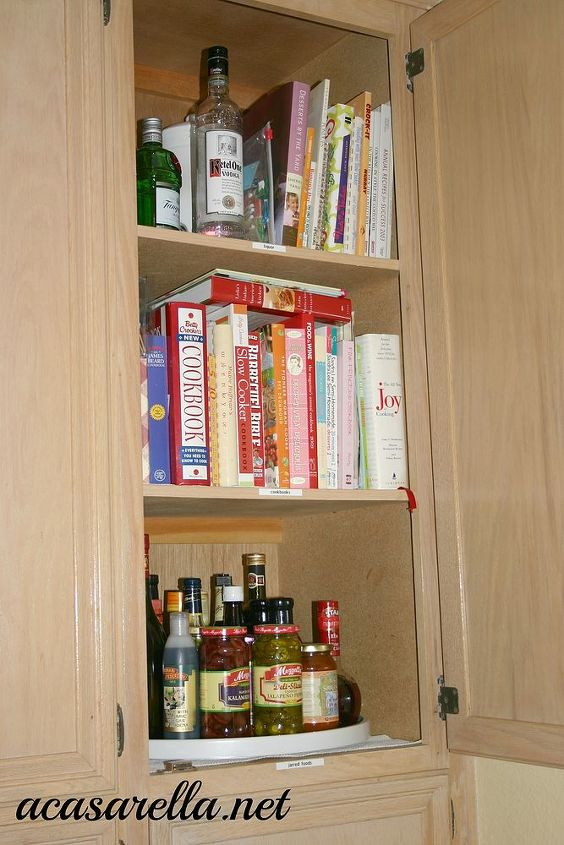 Lazy Susan for dry goods in the pantry