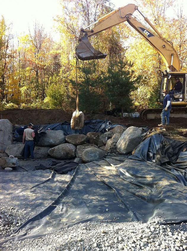 The Construction And Design Of A Large Pond Waterfalls Landscape Outdoor Living
