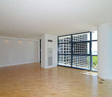 virtual staging chicago hi rise condo before after pic, home decor, living room ideas