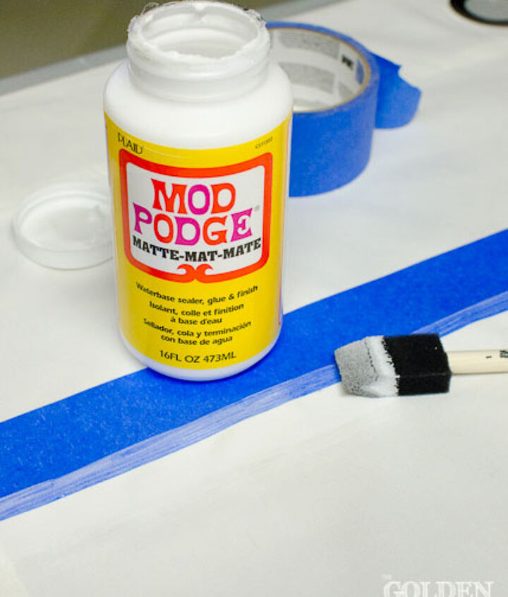 Use Mod Podge on stripes prior to painting to lessen paint bleed through.