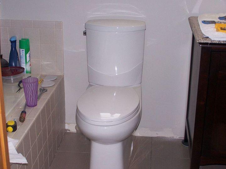 New water saving toilet.