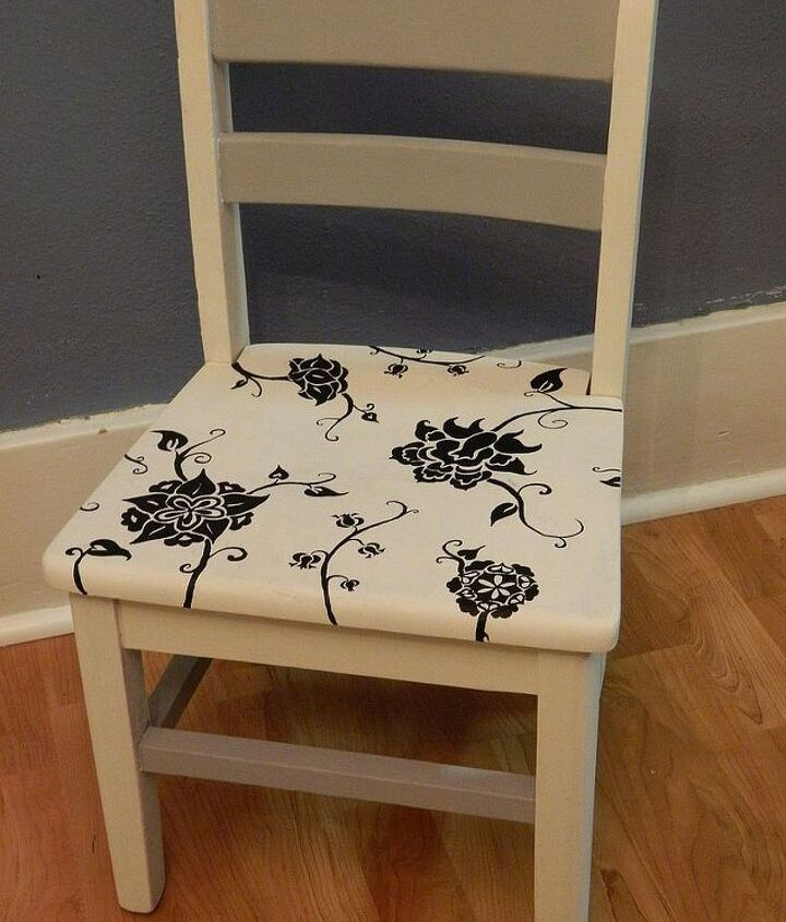 adventures in chalk paint free hand painted child s chair, chalk paint, painted furniture