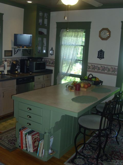 New Kitchen Island in our 1882 Victorian house.