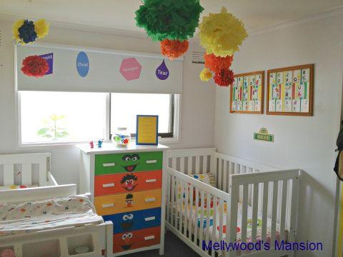Sesame Street Nursery Bedroom Ideas Home Decor Themed For A