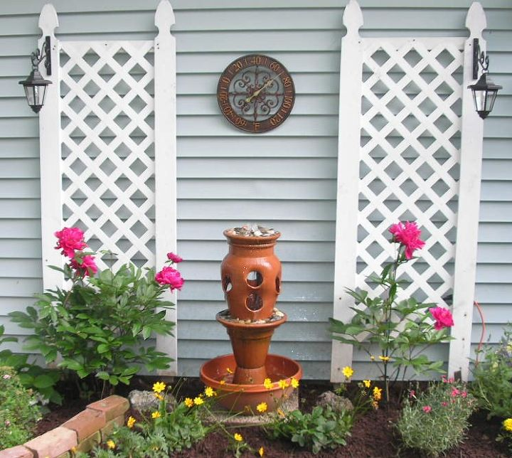 terra cotta pot fountain, diy, gardening, how to, outdoor living