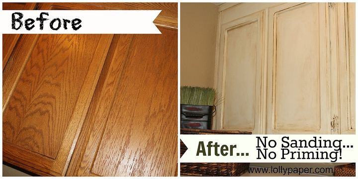 Phenomenal How To Paint Oak Cabinets Without Sanding Or Priming Home Interior And Landscaping Fragforummapetitesourisinfo