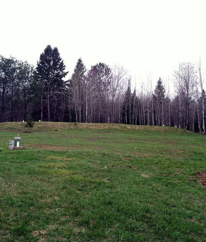 Back yard with Septic and Mound